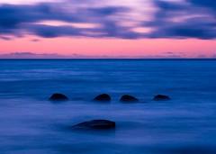Silky Sea (Jeff Sullivan (www.JeffSullivanPhotography.com)) Tags: northern california pacific ocean north coast sunset clouds sun sea seascape waves telephoto blue mendocinocounty bowling ball beach pacificocean backlight silhouette