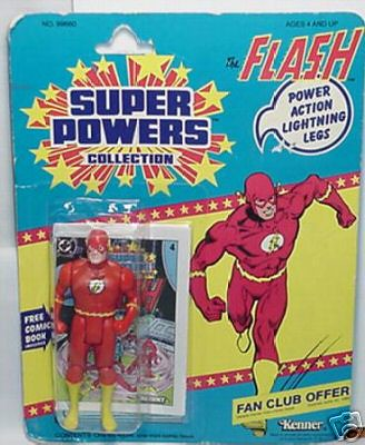 card 1984 Flash Super Powers action figure