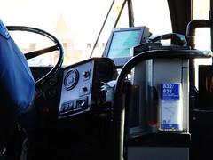 司機旁有公車票