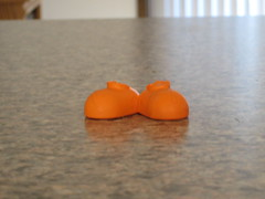 Remains of an Orange Cuz Toy