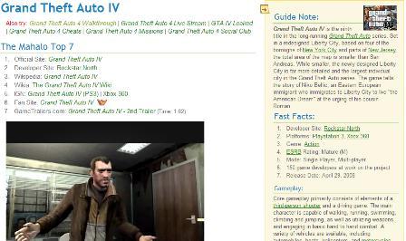 Mahalo - GTA 4 results