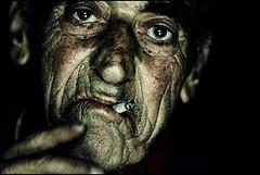 (ArTeTeTrA) Tags: portrait people man face hand cigarette fingers sguardo mano gaze ritratto calabria sangiovanniinfiore kubrickslook canonef70200f28isusm