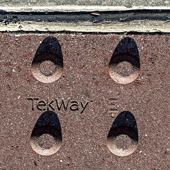 = : : (MyArtistSoul) Tags: ventura ca street sidewalk curb traction nubs grip pattern tekway urban texture simple square abstract minimal shadow symmetry 7411