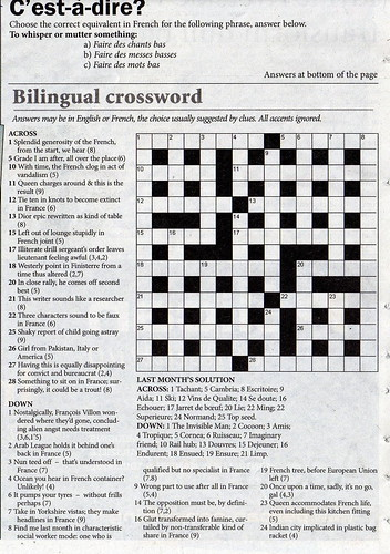 May Edition of Connexion Crossword