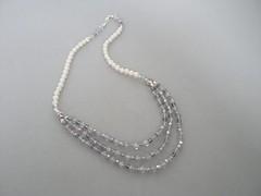 DSC01139 (isabel maral creations) Tags: necklace bijuteria murano colar prolas cristais folheado prolasdeguadoce prolascultivadas prolasdevidro cristaistcheco