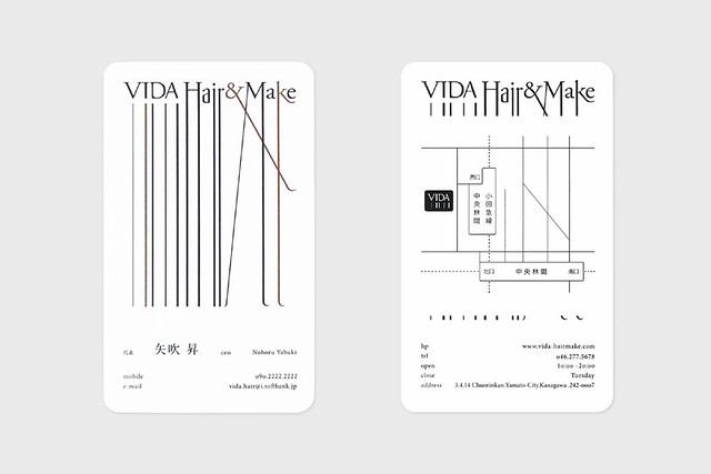 VIDA hair saloon Visual Identity