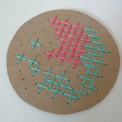 cross stitch coaster
