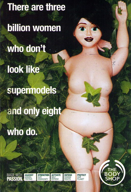 Body Shop Supermodel Postcard