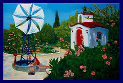 Crete Rural Scene. Finished