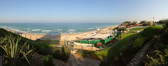 Seaside (wmliu) Tags: panorama hotel israel view pano middleeast handheld stitched 1022mm mediterraneansea canonefs1022mmf3545usm herzliyya wmliu thesharon