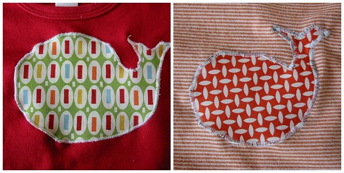 two whale appliques