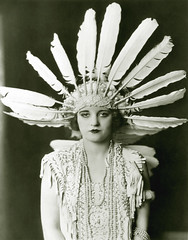 tallulah bankhead, feathered (carbonated) Tags: ladies celebrity vintage famous feathers headdress feathered