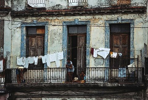 Paladares and Pouring Rain in Old Havana, Cuba