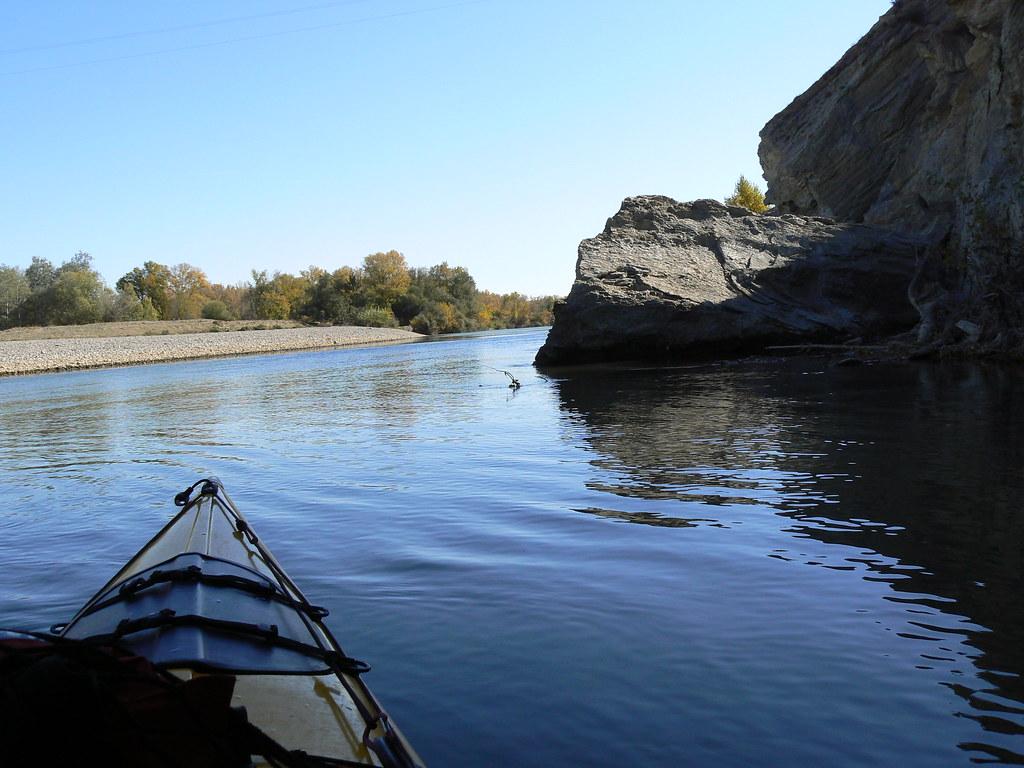 Río Aragón con el Arga en Otoño 024