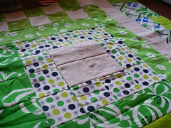 Quilted Rug in progress
