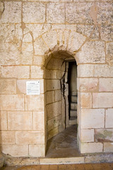 Beginning the Belltower Climb (Culinary Fool) Tags: world heritage church ruins bordeaux massive restoration hilltop rebuilt culinaryfool gironde  site founded 1079 1400s unesco abbayedesauvemajeure