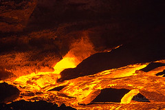 The entrance to hell has a thousand ways, the exit none. -- a German proverb (wildphotons) Tags: park orange color hawaii lava with national volcanoes nothing naranja rhymes blueribbonwinner supershot blorenge rhymeswithorange netneutrality superbmasterpiece matters2me