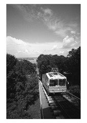Kiev's Funicular (Richard Frances) Tags: leica blackandwhite bw blackwhite noiretblanc voigtlander cable ukraine aerial nb m cablecar kiev tramway ilford 15mm voigtlnder funicular lenses nokton40 panf m4p cablerailway rackrailway  123bw  leicam4p  40f14   voigtlanderheliar15mmf45 ltmmount voigtlanderlensesmandltmmount funicularrailways     gravityrailroad