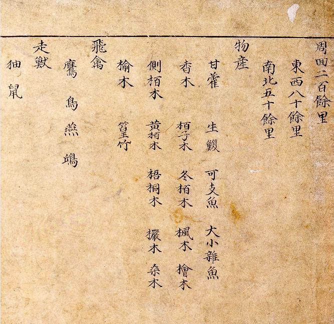 Mid-1700s-Paldo Yeojido - Ulleungdo - Product List