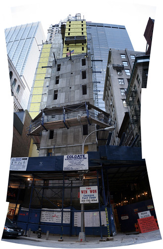 Dizzying construction project at Nassau and Maiden Lane