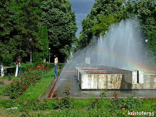 Fantana din Parcul Cancicov din Bacau - Vara 2007