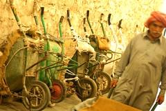 Souq Wakif - wheelbarrow porters