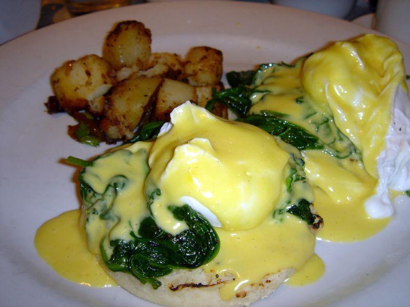 Eggs Florentine sans ham