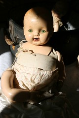 doll 3 (suzanneduda) Tags: old baby vintage doll antique creepy dollhead foundintrash inasuitcase