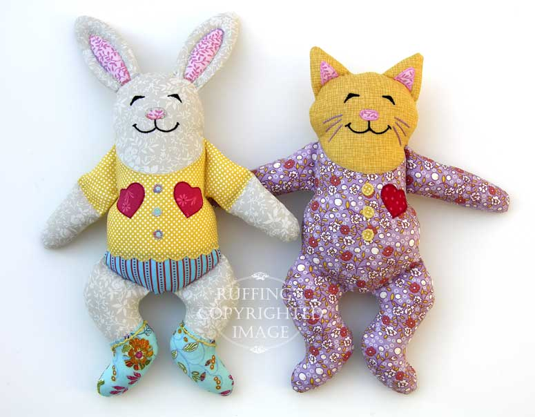 Huggy Bunny and Huggy Kitty by Elizabeth Ruffing