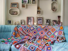 my mother,s handicroft (Nahidyoussefi) Tags: color knitting photos textile bedcover
