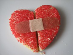 How do you mend a broken heart? (Through Joanne's eye) Tags: red cookies hearts yummy heart valentine sugar explore valentines joanne bandaid bandage brokenheart bemine happyvalentinesday throughjoanneseye canen joannecanen