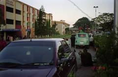 Street side (Jennifer Kumar) Tags: negativescan hindu balaji hindutemple tirupati streetside andhrapradesh tirupathi thirupathi thirupati venkateshwara balajitemple india1998