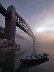 Tamar and Royal Albert Bridges at dawn