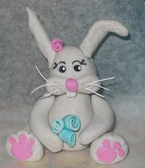 marzipan bunny -Feb07 (Kellis-Cakes) Tags: rabbit bunny easter figure marzipan caketopper