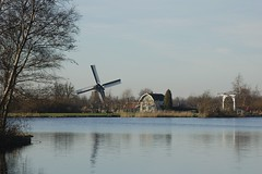 Hollands tafereeltje (Ren Mouton) Tags: park lake holland reed nature netherlands windmill amsterdam meer natuur drawbridge riet molen wetland waterland wandeling 1580 ophaalbrug denilp ttwiske 10februari2008 achtkantigebovenbinnenkruier twiskemolen basingerhorn