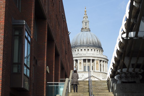 St Paul's from the path