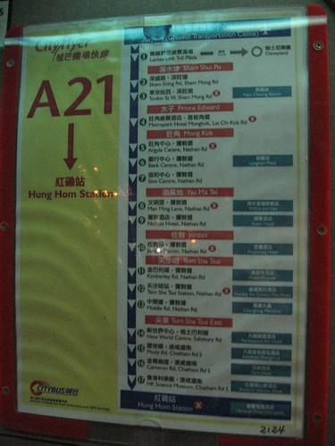 A21 bus route