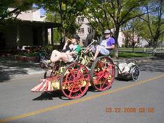 Easter Choo Choo (whymcycles) Tags: bike bicycle recycled rad bikes trampoline quad lawnmower mower tandem bicyclette gears velo fahrrad whimsical amphibious waterbike ksr quadricycle quadracycle whymcycle peterwagner kineticchoochoo thatsamowereh honda3813
