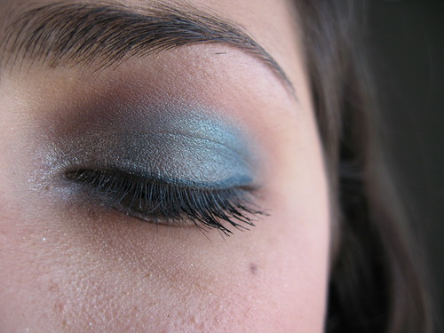 Blue rainbow eyeshadow eyelash makeup pics idea