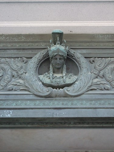 Athena on Lintel of Library