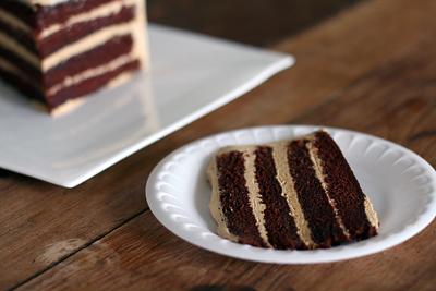 Chocolate Cake w/ Espresso Caramel Frosting
