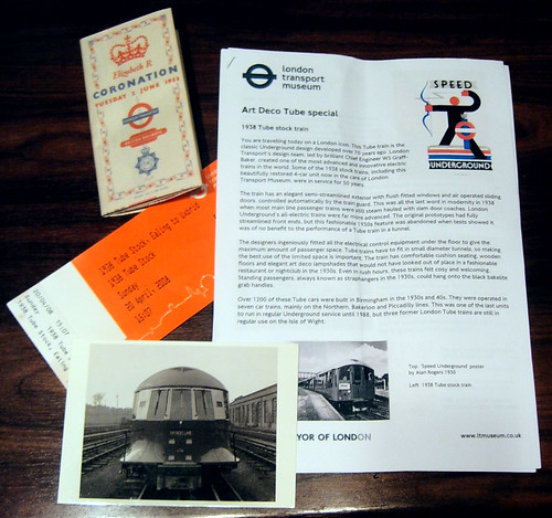 1938 Art Deco Tour - tickets, 1953 map, postcard & details
