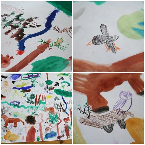 Kinder malen die Lobau