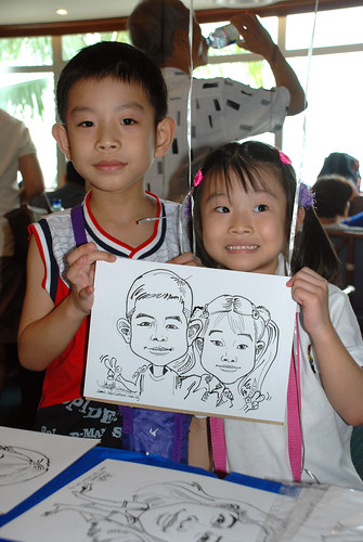 Caricature live sketching Temasek Fun Day 9