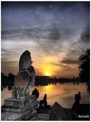 Srah Srang() Sunrise (Akinori Li) Tags: trip travel architecture sunrise lumix asia cambodia ruin panasonic siem reap angkor hdr sunup hdri worldheritage srah fz50     akinori  srang  dmcfz50  angkorhdr akinorili