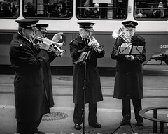 Sad band plays joyful music (Мaistora) Tags: band brass street marching army salvation charity religious christian hymns carols christmas xmas joy rejoyce birth birthday jesus christ newborn saviour happy happyness old retired bored gloomy sad musicians men elderly serious solemn funeral eral fun urban city zurich switzerland sony ilce alpha a6000 kit zoom 1650mm sel1650pz epz1650oss lightroom ps topza nik