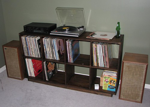 Record Shelves from Dub's Links Blog