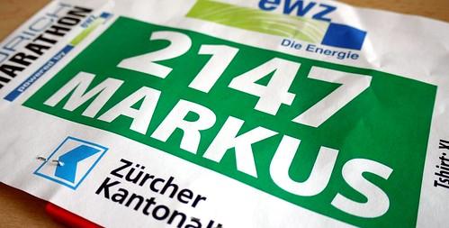 Startnummer Zürich Marathon