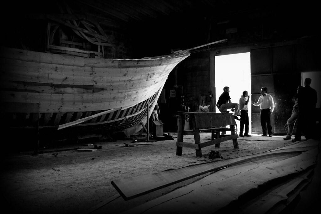 dialog in the shipyard