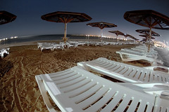 red sea, beach at night - by -sel